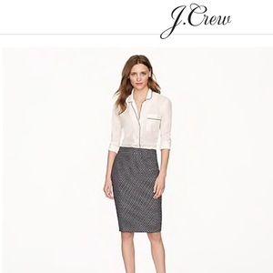 J. Crew no. 2 pencil skirt with polka dot print